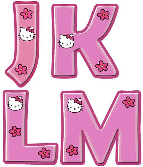 Abecedario para imprimir de Hello Kitty  Cumple  Pinterest