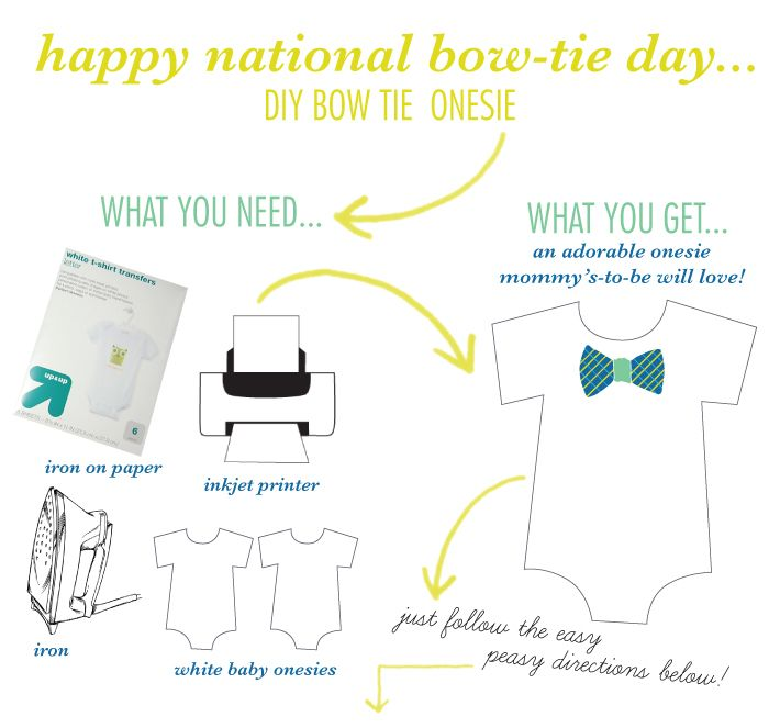 Diy Bow Tie Onesie  Beloved Indeed  Custom Invitations