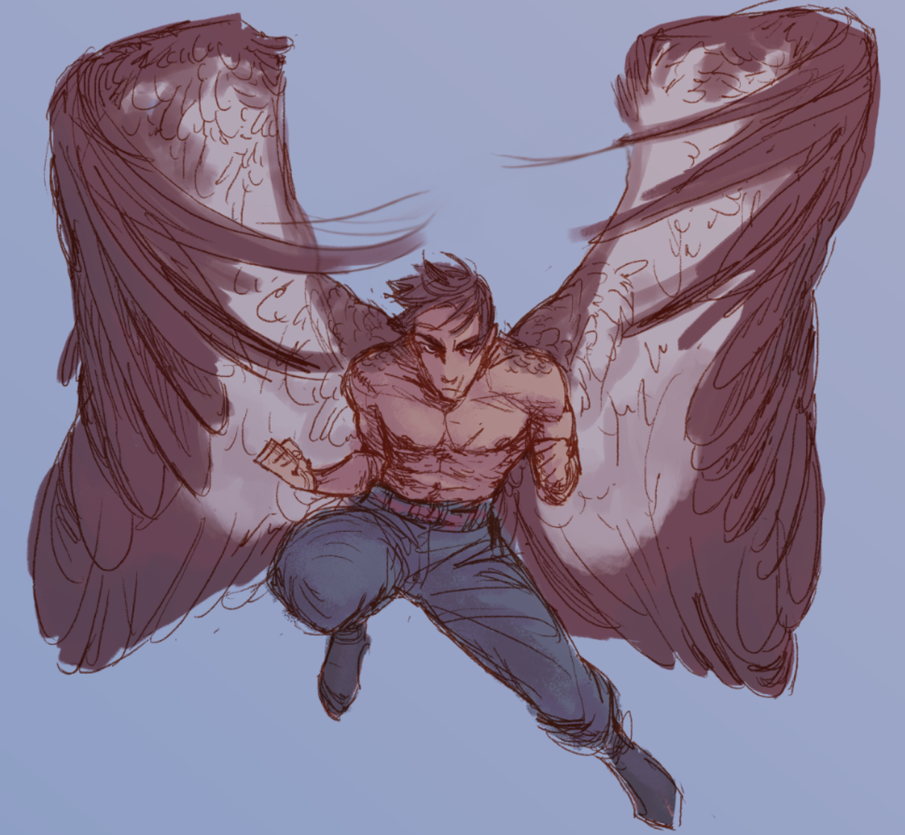 Its He The Guy Winged People Wings Art Drawing People