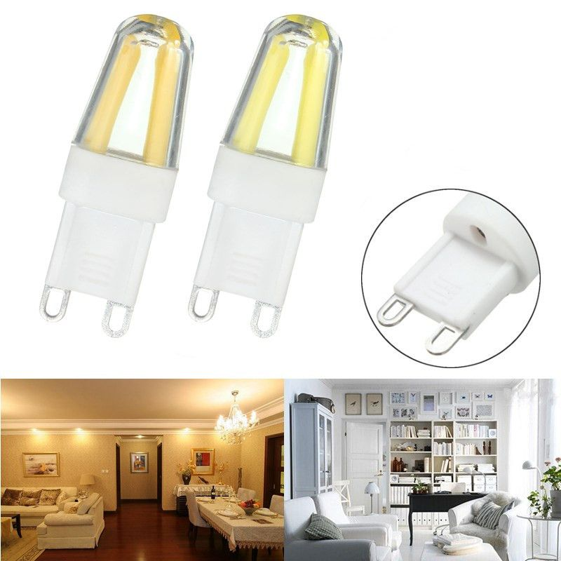 Mini G9 2w Dimmable Led Corn Bulb Silicone Crystal Cob Lamp Light Ac220v Dimmable Led Lamp Light Led Light Bulbs