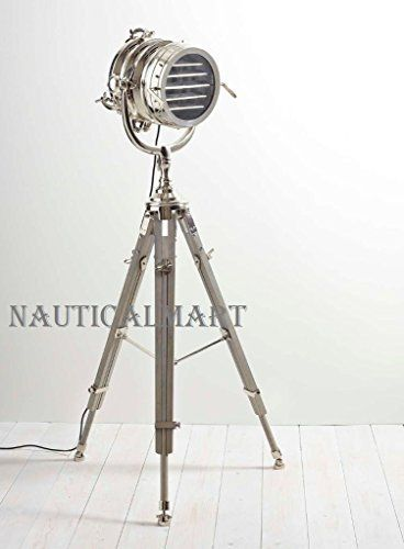 Hollywood desk top searchlight nautical tripod floor lamp home decor gift