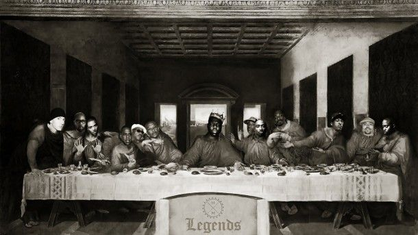 Hip Hop Last Supper Last Supper Easter Art Black And White Photography