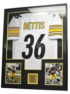 Jerome Bettis Steelers Signed Autographed Framed Jersey
