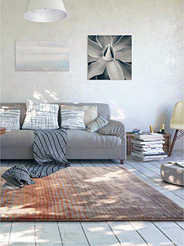 benuta Teppiche Moderner Designer Teppich Moire Viscose Orange