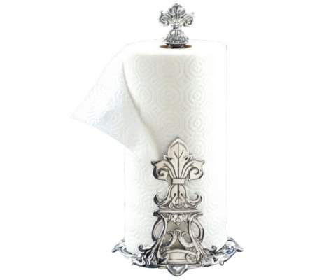 Bed Bath And Beyond Paper Towel Holder Captivating Arthur Court Fleurdelis Paper Towel Holder  55Downingstreet Inspiration