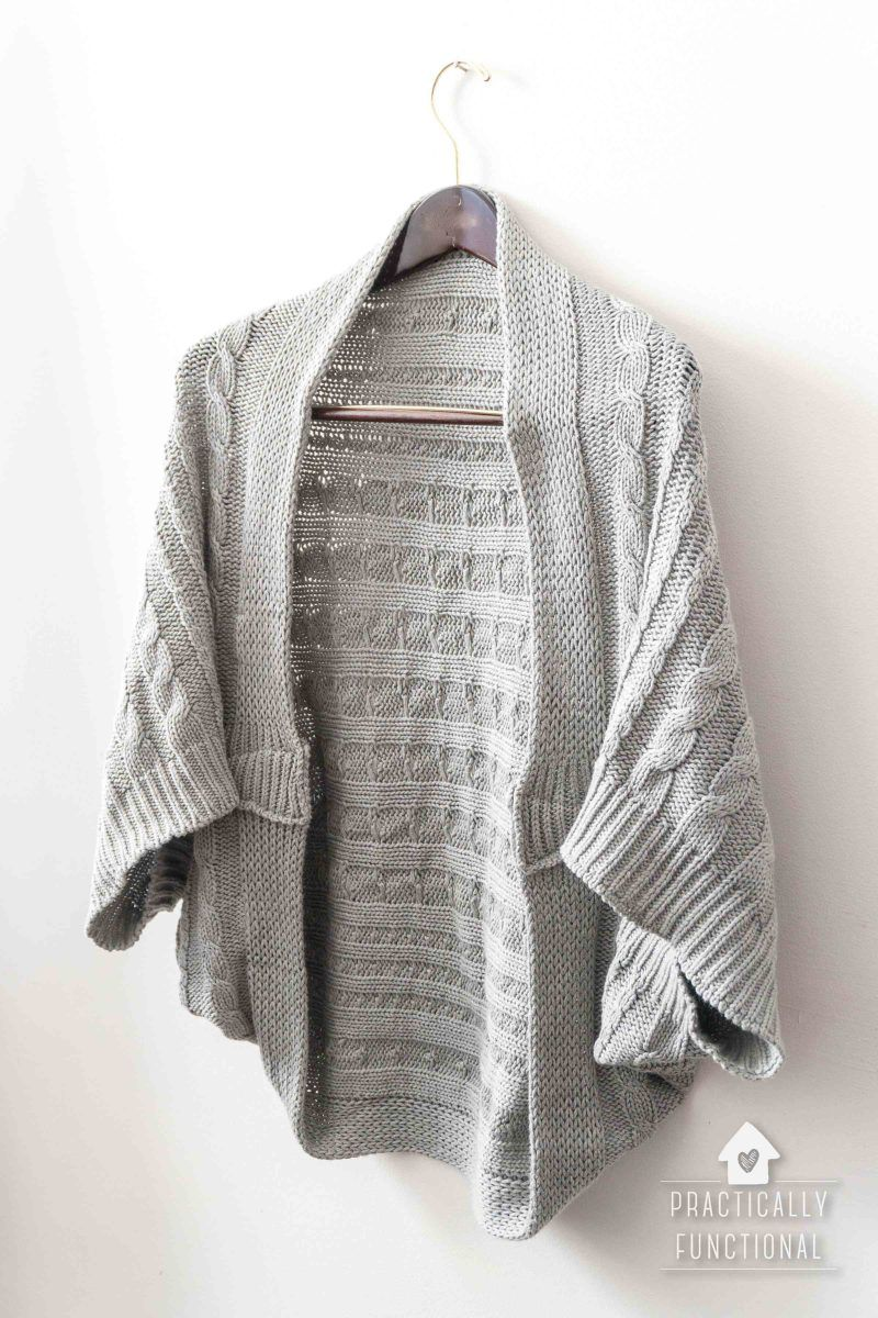 ea4c20c66a93 Cozy up this winter in a blanket turned DIY cocoon cardigan! This DIY is  easy and takes just minutes - make it with your favorite blanket!