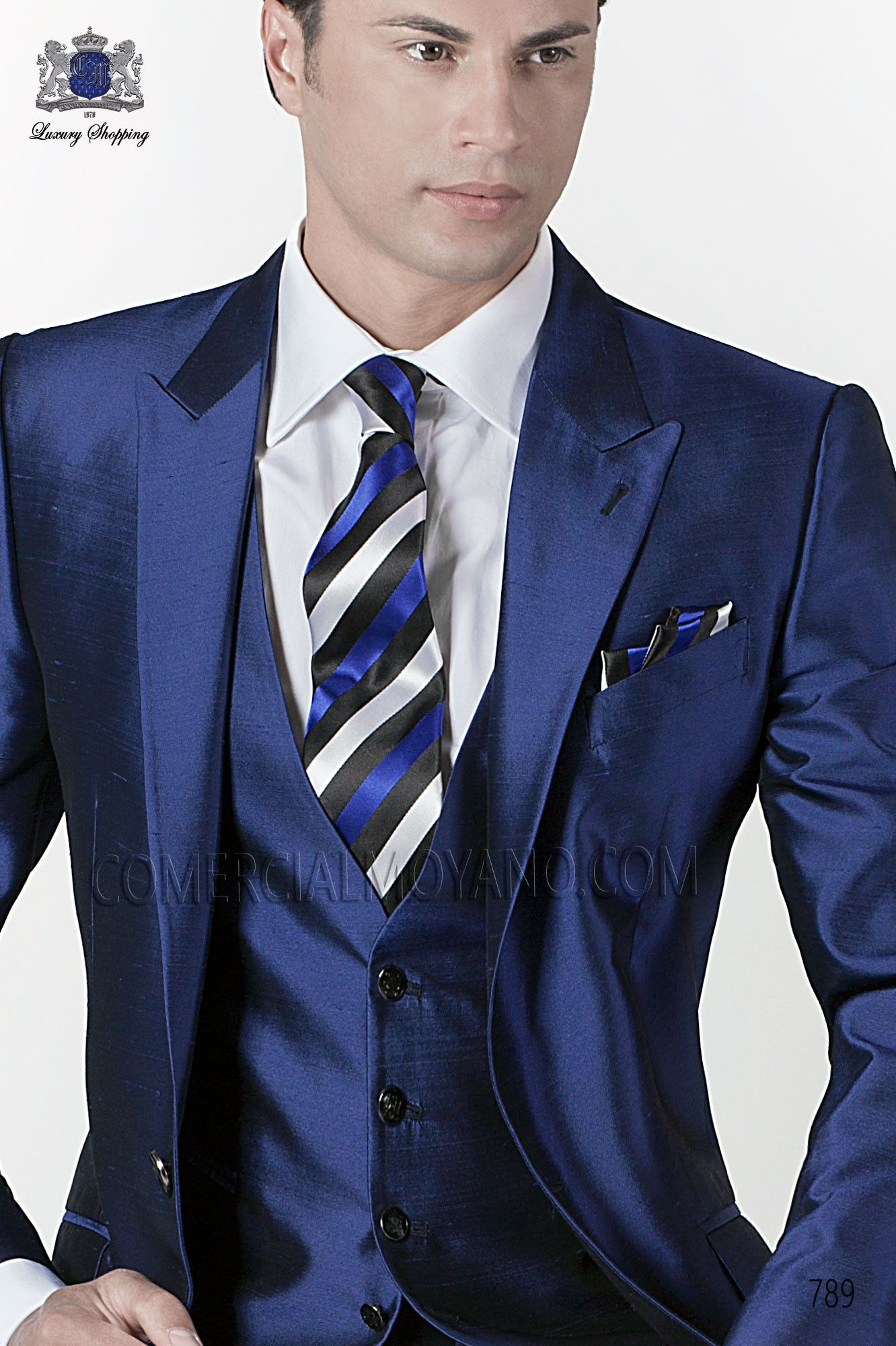 blue-black-striped-tie-and-handkerchief-set.jpg (1332×2000 ...