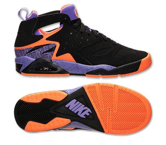 Nike Air Tech Challenge Huarache Black Court Purple Orange Sneakernews Com Black Huarache Nike Nike Air