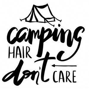 Photo of Silhouette Design Store: Camping Hair Don't Care