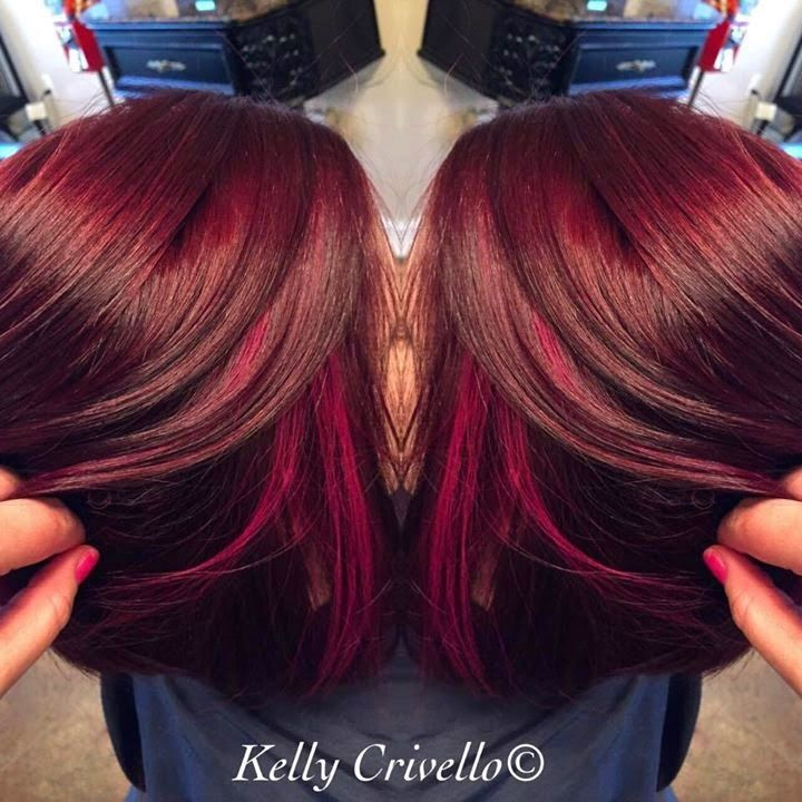 The Beauchamp Family New Look Redburgundy Hair With Pink Peekaboo