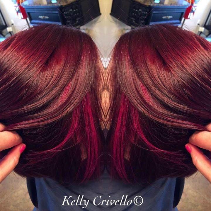 The Beauchamp Family New Look Redburgundy Hair With Pink Peekaboo