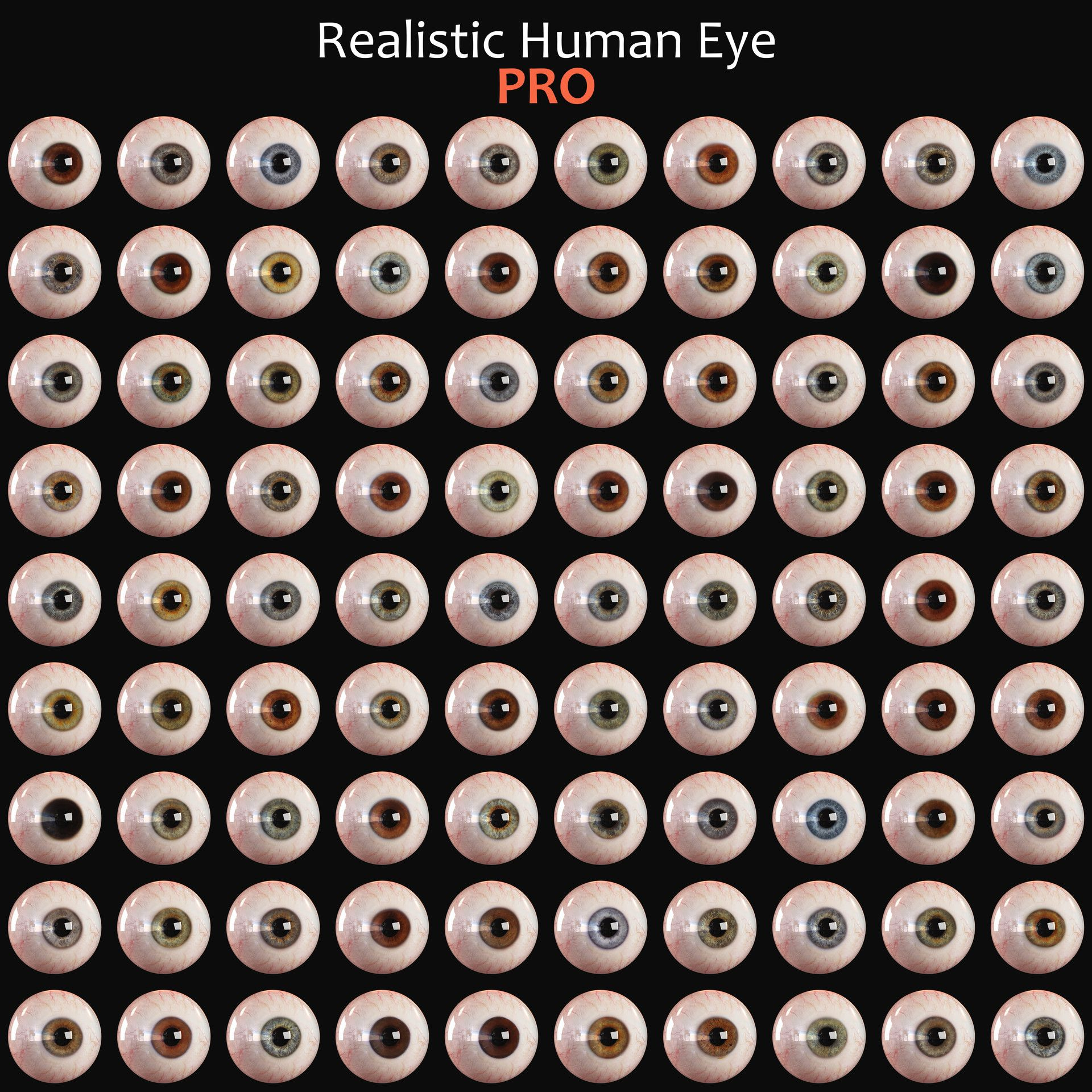 This is high detailed 3d human eye. The model was made in ...