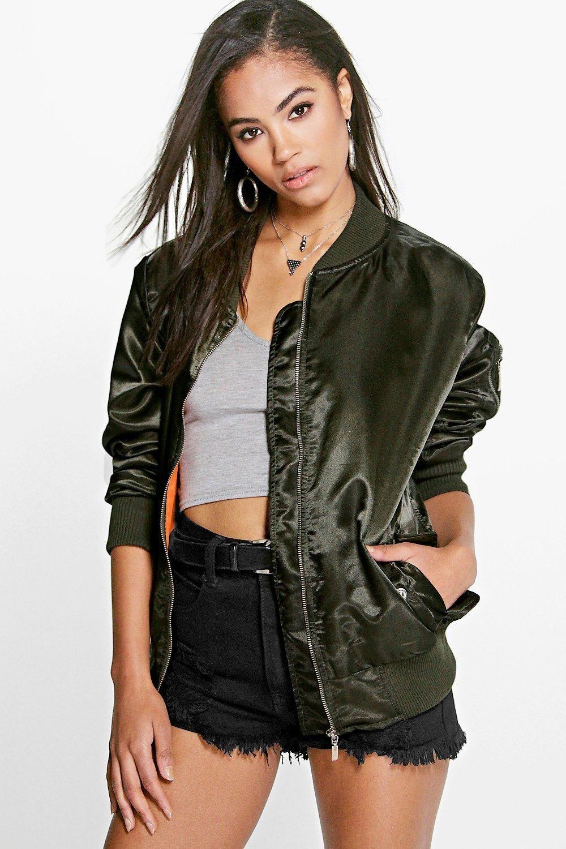 Megan Lightweight Satin MA1 Bomber Coats jackets women