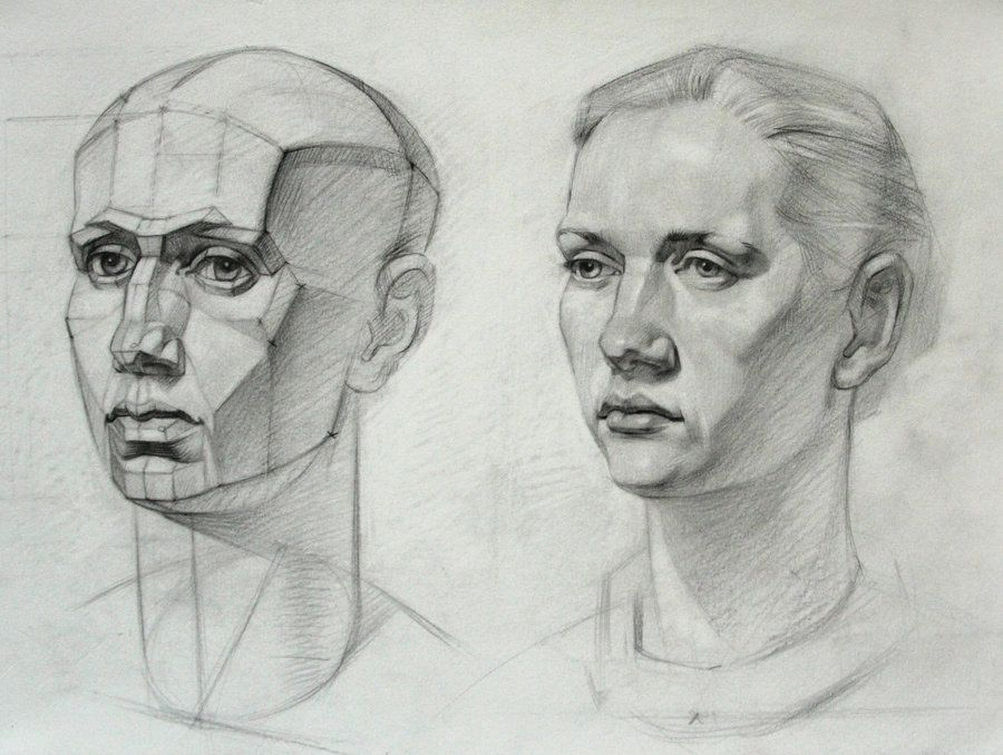 A study after a russian book on drawing, by prof ...