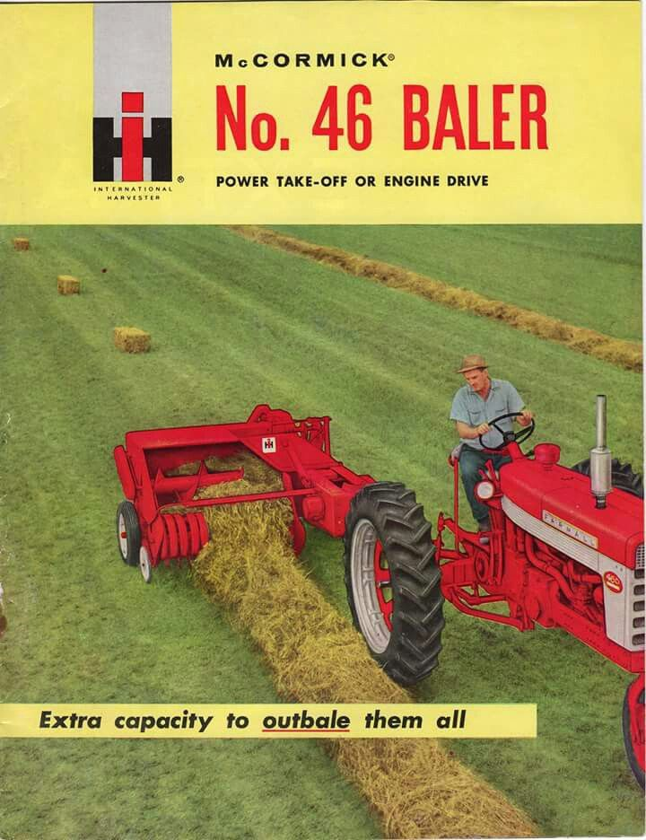 IH McCORMICK No 46 Square Baler Ad   Red Iron   Vintage tractors