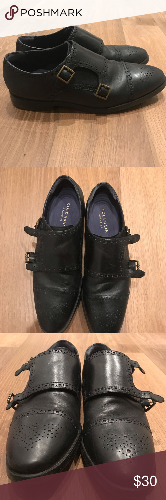 Cole Haan Double Monk strap oxford size