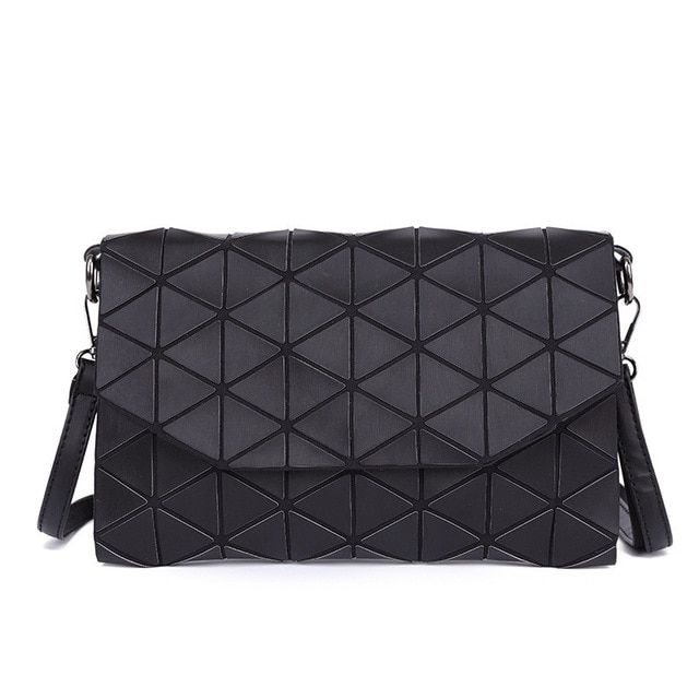 2018 New Matte Designer Women Evening Bags Shoulder Bag Girls Flap Handbag  Fashion Geometric Plaid Casual Clutch Messenger Bags Review e8ba73e7aeeb