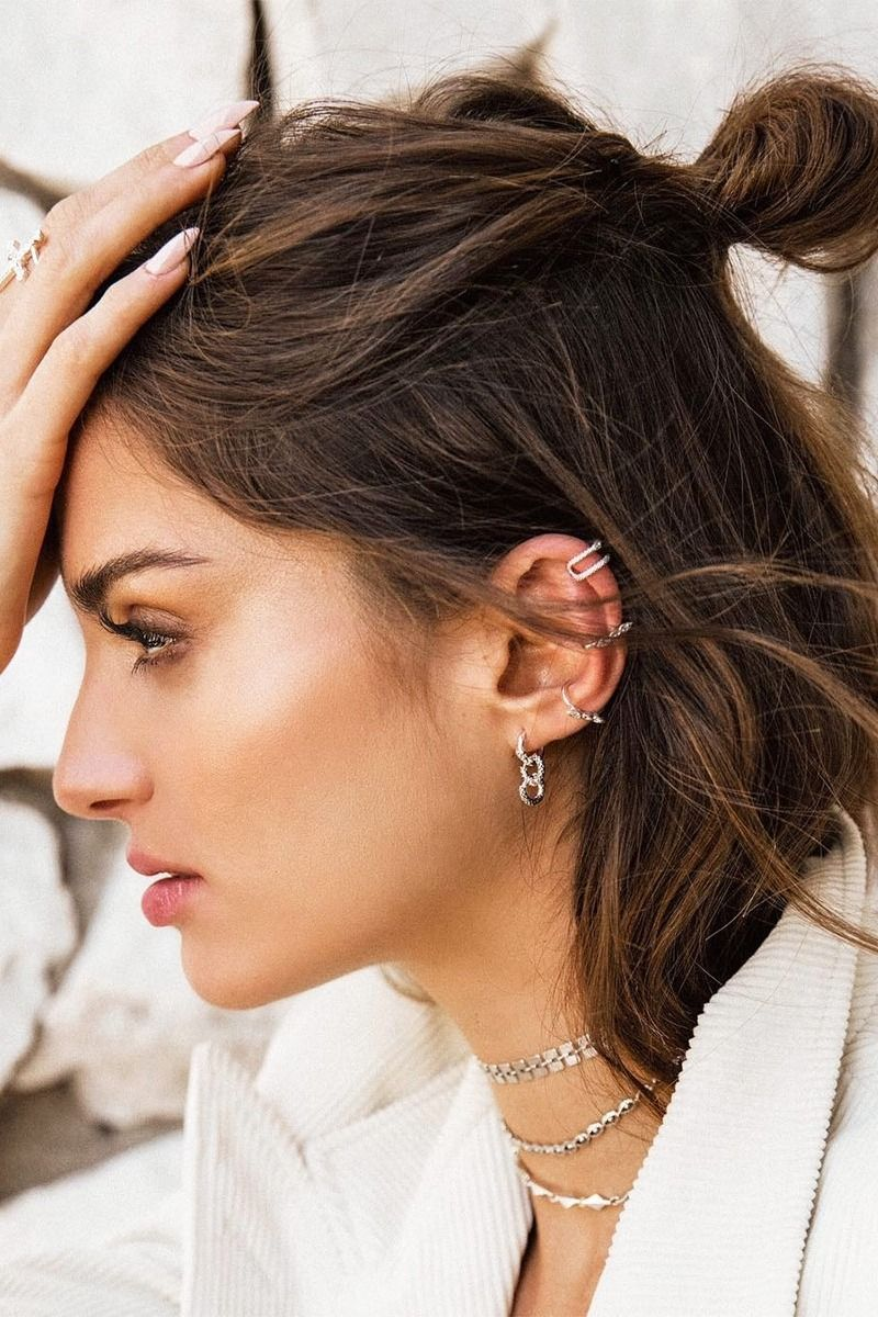 This Is The Top Earring Trend For Season We Re Always Trying To Keep Up On Jewelry Trends And Love These Huggies Ear Cuffs Them All Our