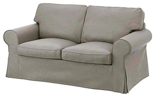 The Cotton Ektorp Loveseat Cover Replacement Is Custom Made For Ikea