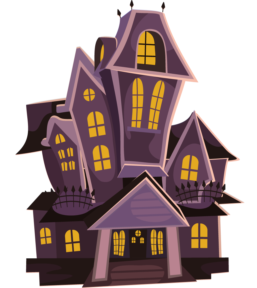 Haunted house free to use clip art pics words png Haunted house drawing ideas
