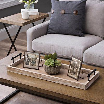 Wooden Decorative Tray With Metal Handles Wohnzimmertische