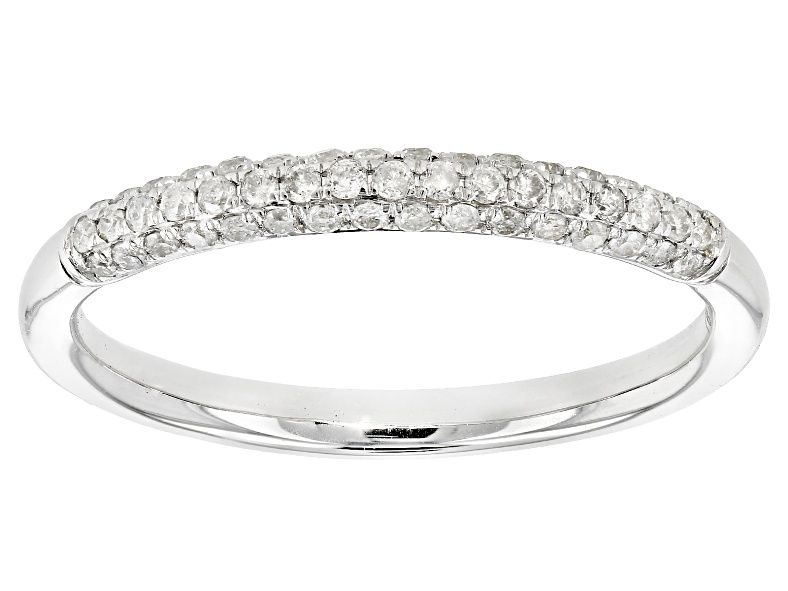 White Diamond 10k White Gold Ring 25ctw Cdg175a Jtv Com White Gold Rings White Gold Ring Band Gold Rings