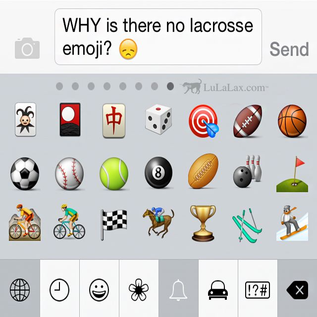 #LaxGirlProblems - Why is there no lacrosse emoji? Maybe some day.