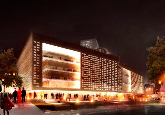 schmidt hammer lassen architects: cultural center, malmo - designboom | architecture