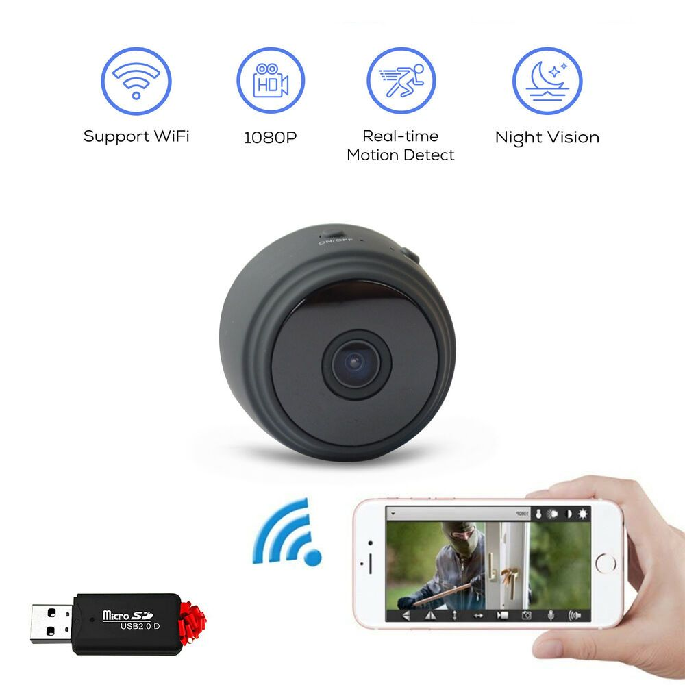 Spy Camera Wireless Hidden Mini Camera Motion Video Home
