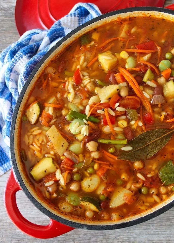 Vegetable Orzo Soup #healthyweeknightmeals