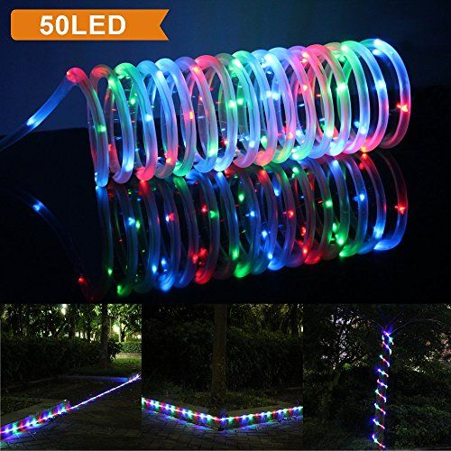 Lte 50 led solar rgb rope lights 23ft 165ft rope lights and 65ft lte 50 led solar rgb rope lights 23ft 165ft rope lights and 65ft lead cable included aloadofball Images