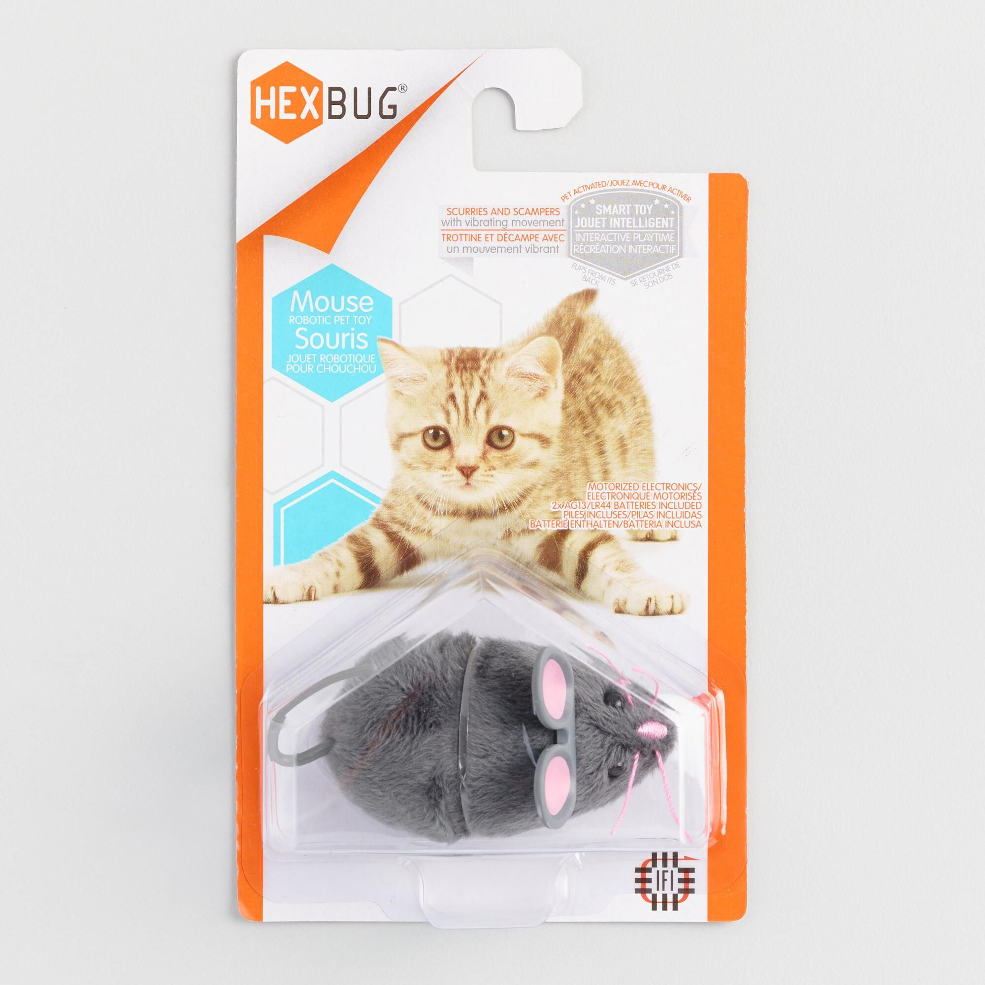 Gray Mouse Robotic Cat Toy Cat Toys Cats Dog Gifts