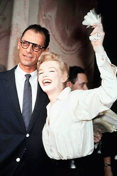 Marilyn Monroe and Arthur Miller in their marriage.