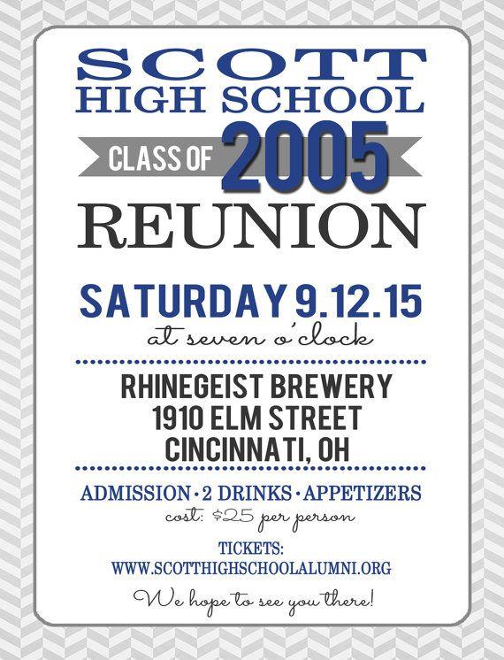 High School Reunion Postcard Invitation by TangerinePaperie