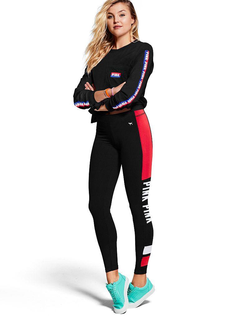 84eb1037c6cac Flat Waist Cotton Yoga Leggings - PINK - Victoria's Secret | My ...