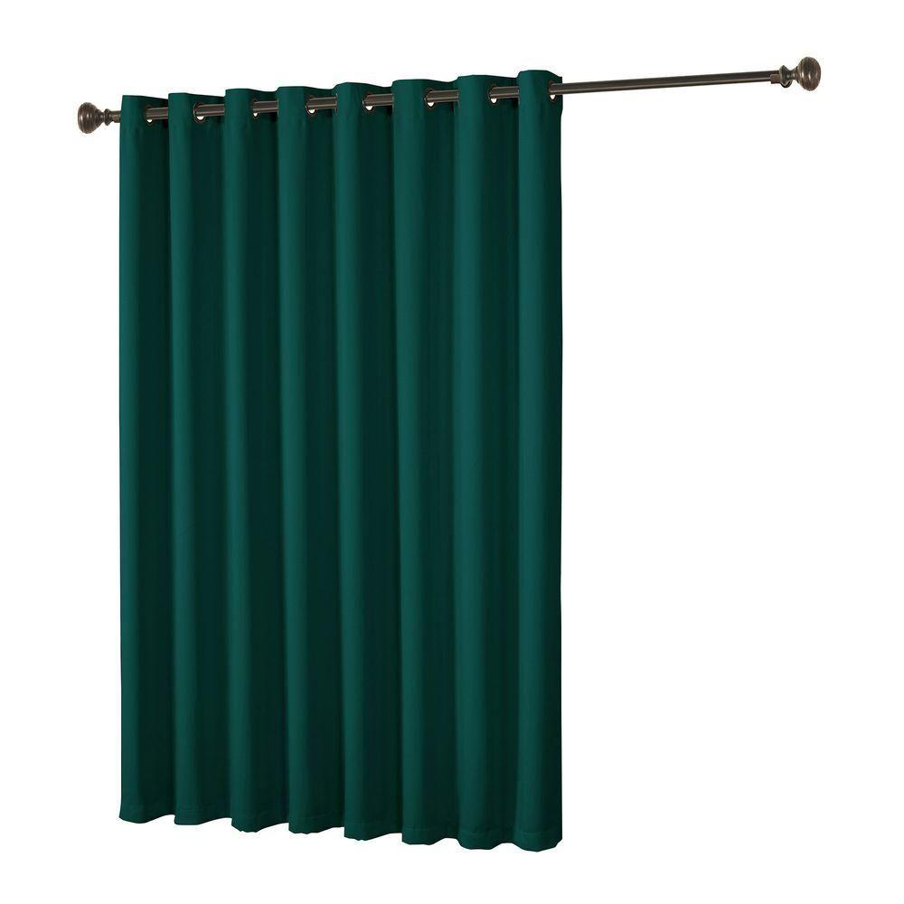 Bella Luna Maya Woven Blackout Beige Grommet Extra Wide Patio Door Curtain Panel 108 In W X 84 L