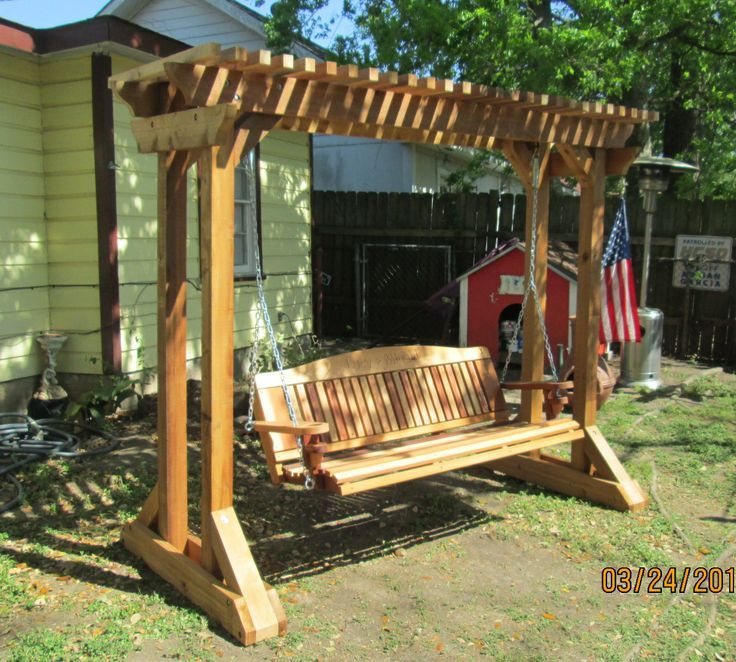 14 Amazing Porch Swing Frames Ideas Porch Swing Frame Outdoor Swing Outdoor Wooden Swing