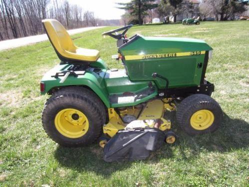John Deere 445 >> John Deere 445 54 Deck Online Auction Prairie Farm Wi Hansen