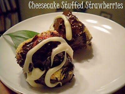 Cheesecake Stuffed Strawberries. Uh, yum. Easy too!
