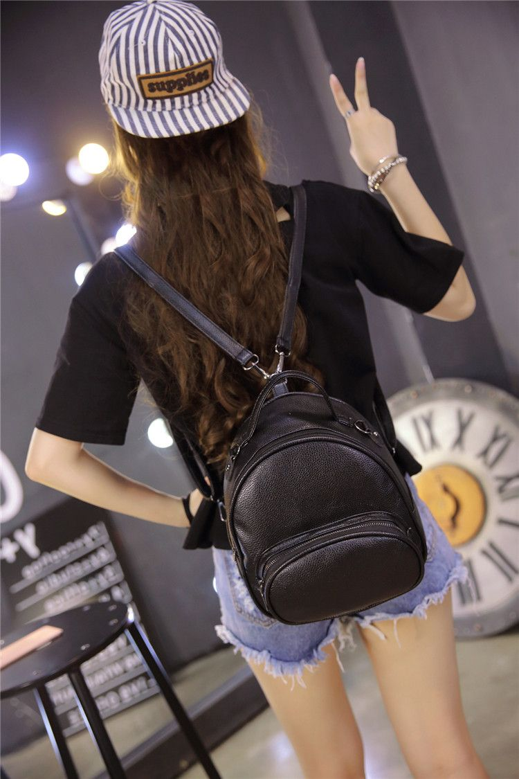 3b2307f7ab Women Backpack New Fashion Casual PU Ladies Backpacks Candy Color Korea  School Style Student Mini Backpack