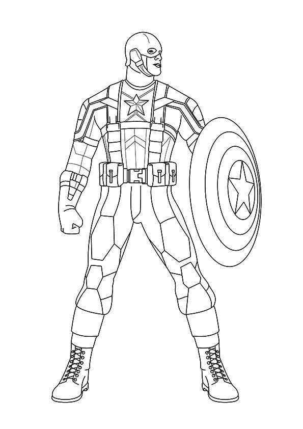 Print Coloring Image Momjunction Captain America Coloring Pages Superhero Coloring Avengers Coloring Pages