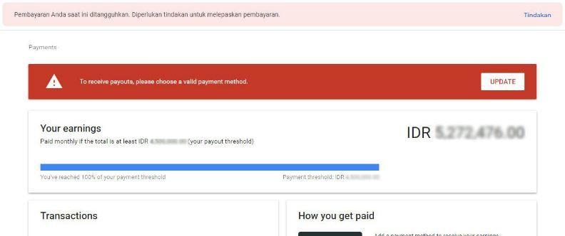 Cara Verifikasi Rekening Bank Dari Google Adsense Youtube Blog Mobile Banking Rekening Bank Google Youtube