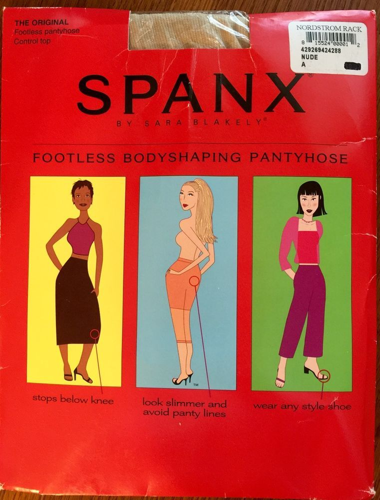spanx footless body shaping pantyhose
