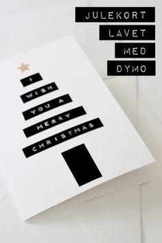 Dymo Julekort Blog Bog Ide Med Billeder Julekort Diy Julekort Gaveindpakning Ideer