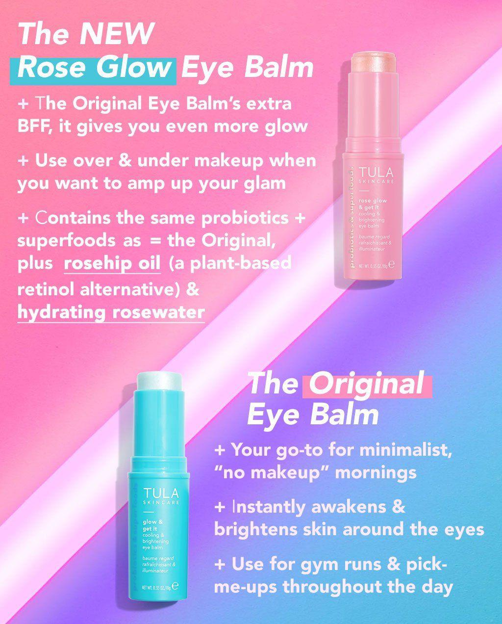 Cooling Brightening Eye Balm The Balm Tula Skincare Beauty Hacks