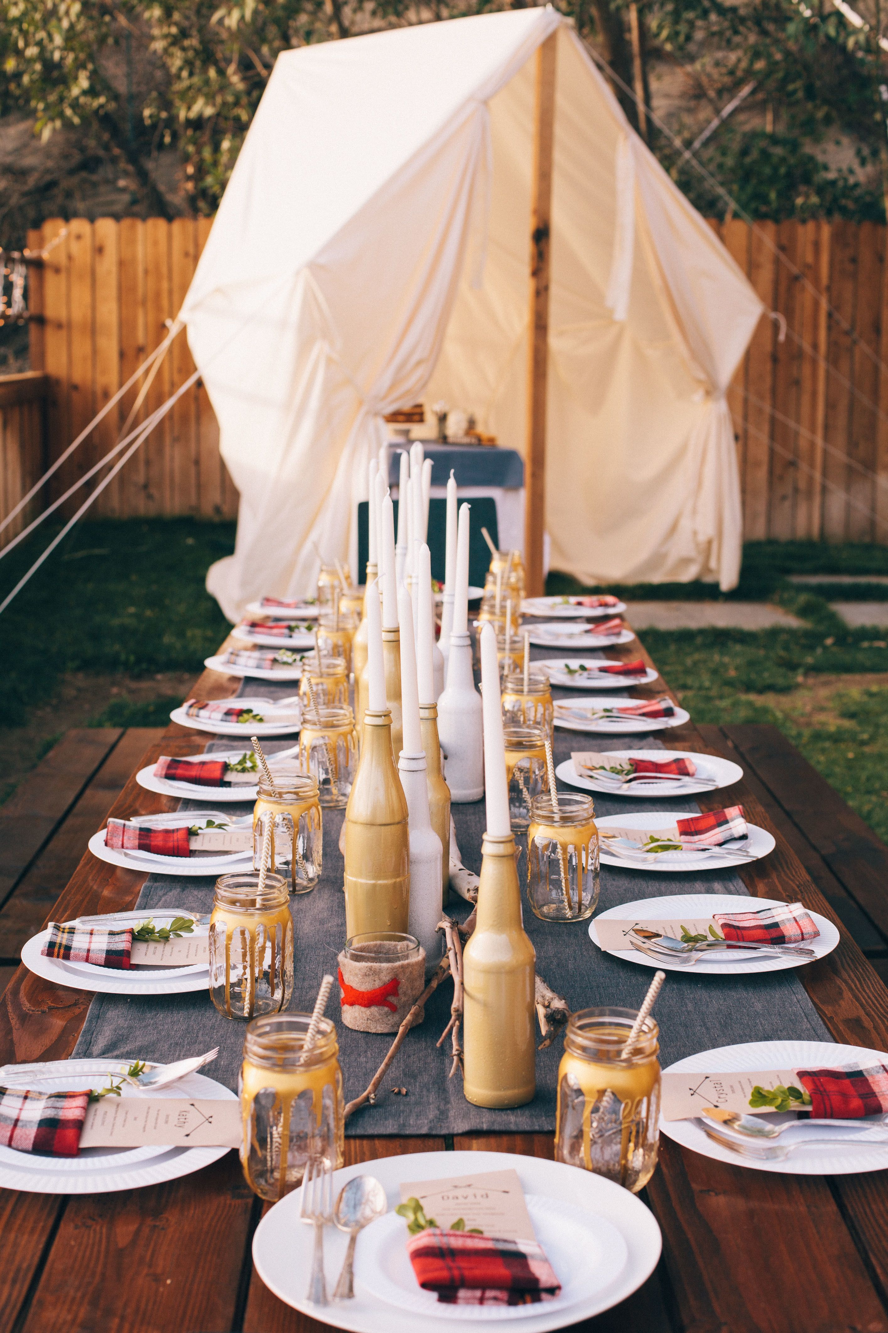 Dinner Party Theme Ideas For Adults Part - 29: Glamping Dinner Party. Spring Party ThemesFun ...
