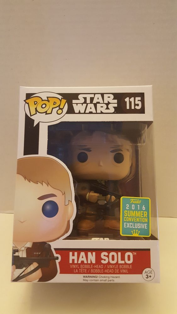 Funko Pop Han Solo With Bowcaster Sdcc 2016 Summer
