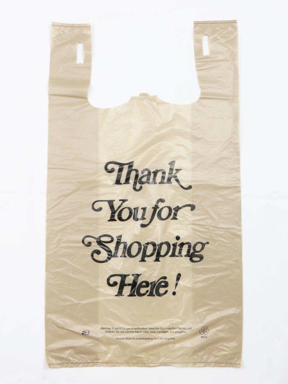 Thank you bag design reusable shopping bag