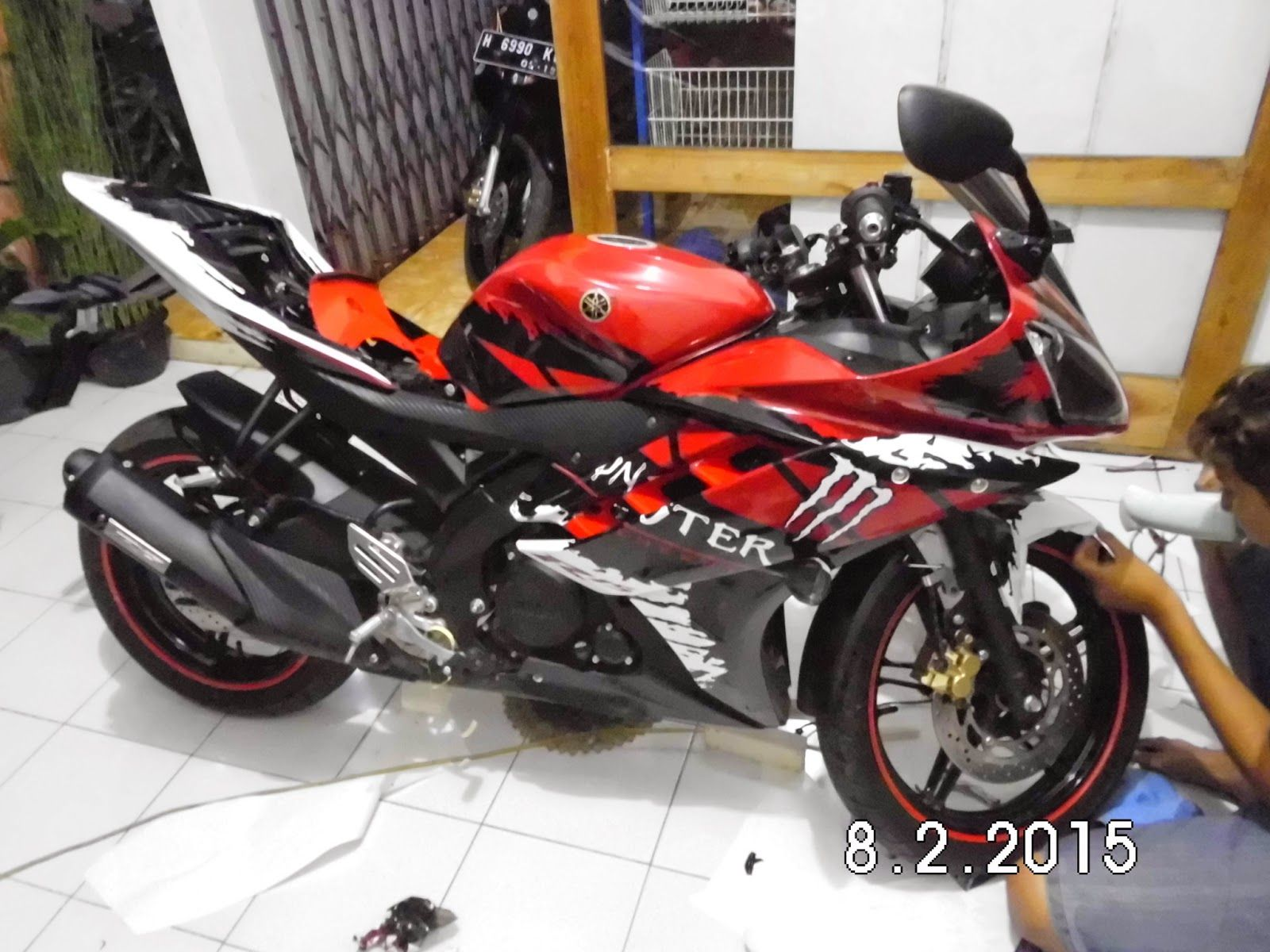 Lemuel Produksi Decal Vinyl Striping Motor Custom Yamaha R - Best custom vinyl decals for motorcycle seat