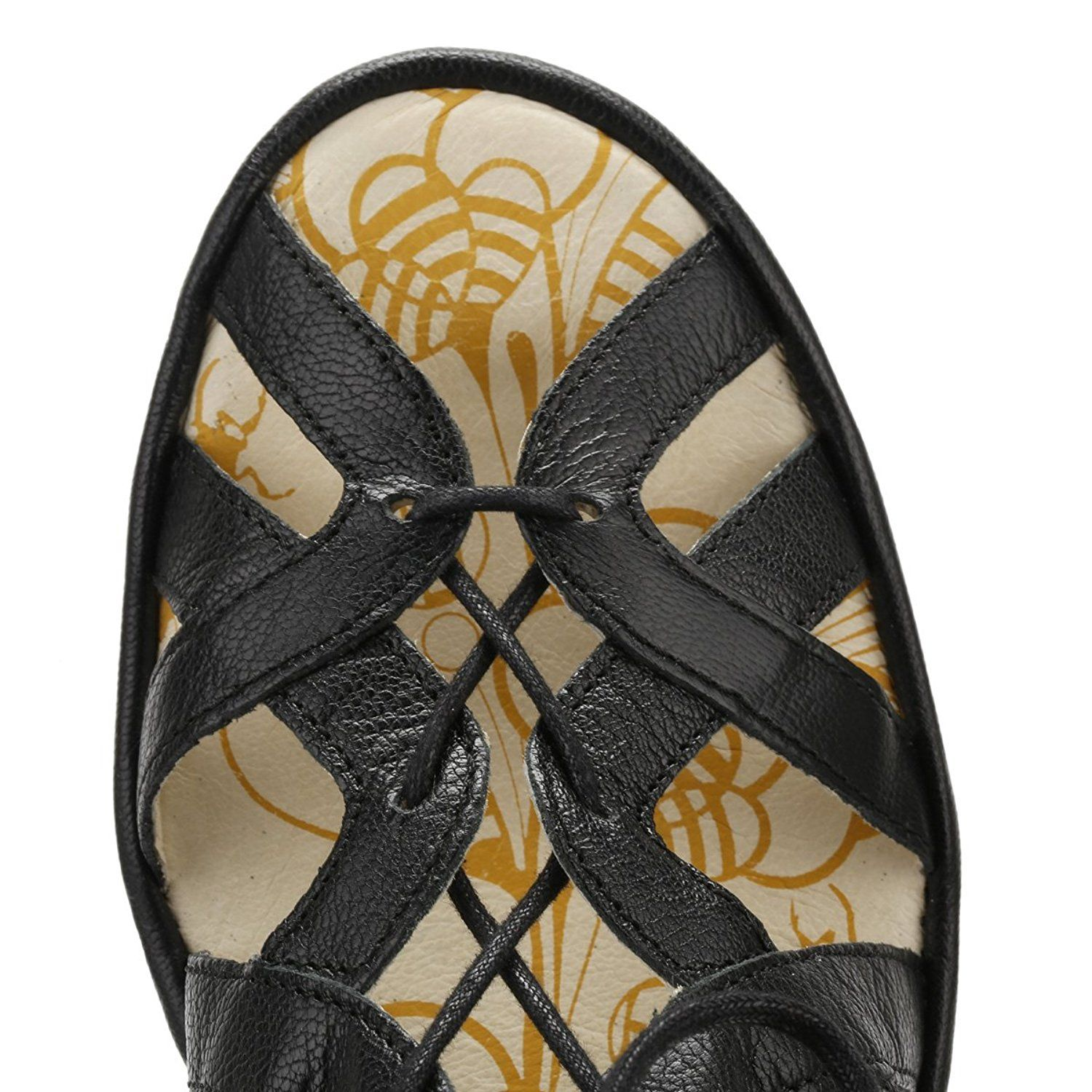 eaf32454aa8 Fly London Womens YELI719FLY Wedge Leather Sandals -- Details can be found  by clicking on